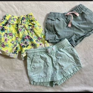 Set of Three Girls Shorts Different Brands Size 3